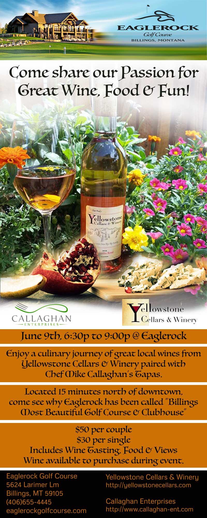 Wine & Tapas at Eaglerock Golf Course